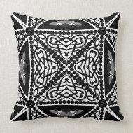 Black & White Modern Tribal Cushion Pillows