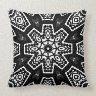 Black & White Modern Tribal Geometry Cushion Pillow