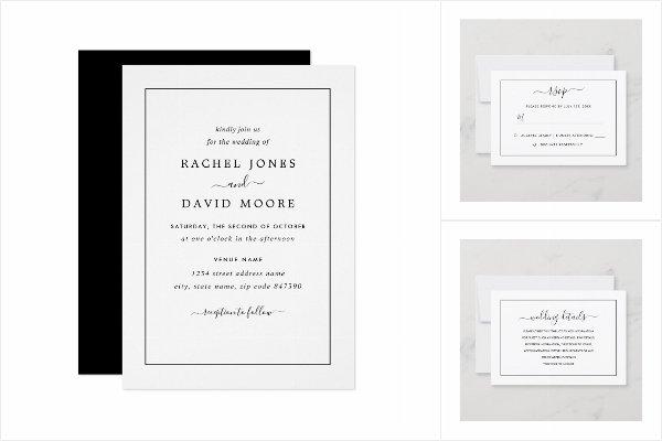 Black & White Modern Wedding Collection