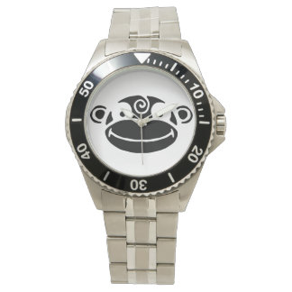Black & White Monkey Wrist Watch
