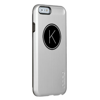 Black White Monogram Circle Simple Monogrammed Incipio Feather Shine iPhone 6 Case