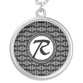 Black White Monogram Tribal Pattern Jewelry