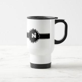 Black White Monogrammed Mug