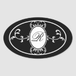 Black White Monogrammed Wedding Favor Soap Label