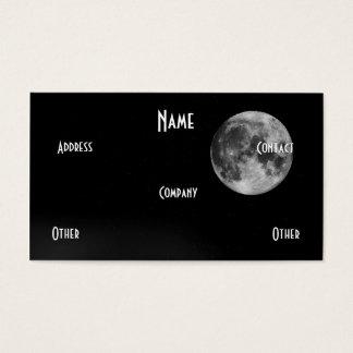 Black & White Moon Business Card