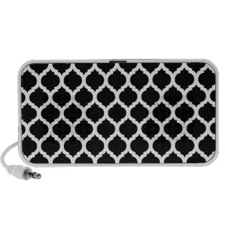 Black & White Moroccan Pattern Doodle Speakers