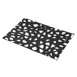 Black White Mosaic Design Pattern Placemat
