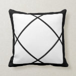 Black White Motif Graphic Design II Throw Pillow