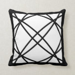Black White Motif Graphic Design III Throw Pillow