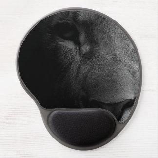 Black White Motivational Leadership Lion Eye Gel Mouse Pad