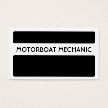 Professional Business Black white motorboat mechanic business cards