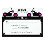 Black & White Motorcycle Biker Silhouette rsvp 3.5x5 Paper Invitation Card