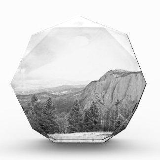 Black White Mountain Tree Southwest Scenery Acrylic Award