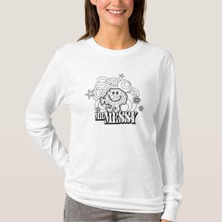 Black & White Mr. Messy | Stars & Swirls T-Shirt