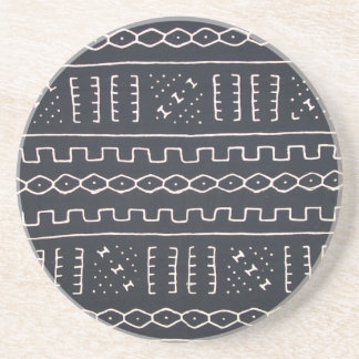 Black & White Mudcloth Coaster