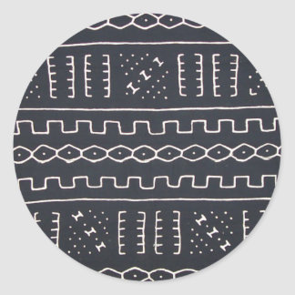 Black & White Mudcloth Sticker
