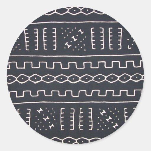Black & White Mudcloth Sticker