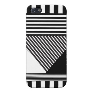 Black & White Multi Stripes Covers For iPhone 5