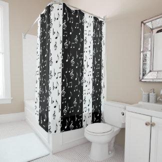 Black U0026 White Musical Stripes Shower Curtain