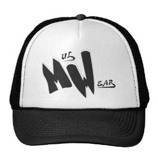 Black & White  MW  Logo cap Trucker Hat