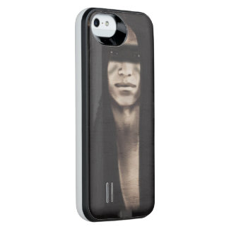 Black&White Native American Scene Uncommon Power Gallery™ iPhone 5 Battery Case