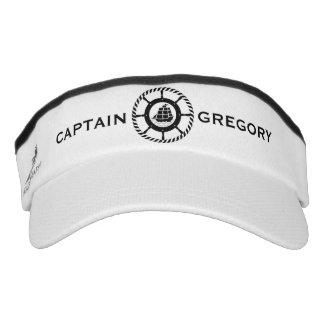 Black & White Nautical Boat & Wheel 3 Visor