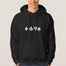 Black & White Negative Card Suits Hoodie
