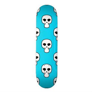 Black, White, Neon Blue Skulls Pattern Skateboard Decks