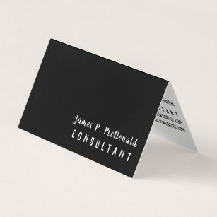 Unemployed business cards templates zazzle black white networking consultant business card colourmoves Gallery