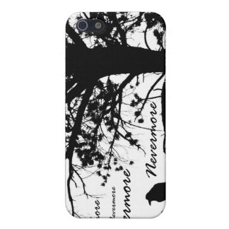 Black & White Nevermore Raven Silhouette iPhone SE/5/5s Cover