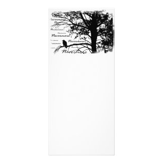 Black & White Nevermore Raven Silhouette Rack Card