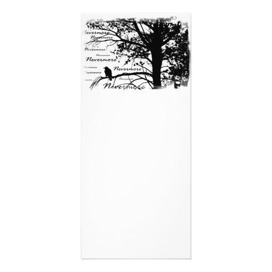 Black & White Nevermore Raven Silhouette Rack Card