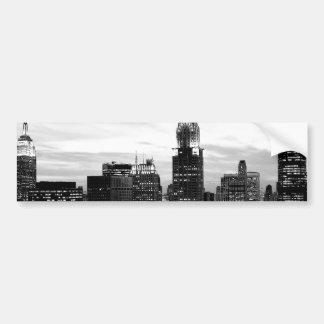 Black & White New York Bumper Sticker