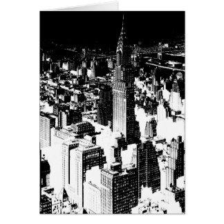 Black & White New York Card