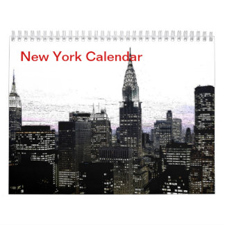 Black & White New York City 2017 Calendar
