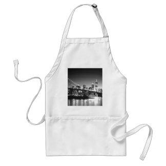 Black & White New York City Adult Apron