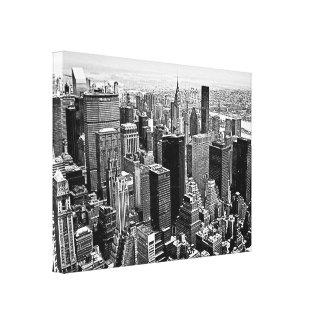 Black & White New York City Artwork Wrapped Canvas