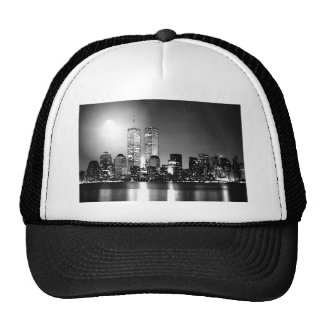 Black & White New York City at Night Trucker Hat