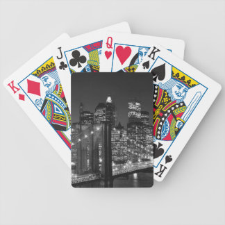 Black & White New York City Bicycle Playing Cards