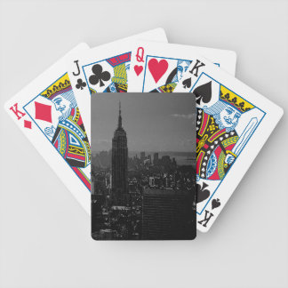 Black White New York City Bicycle Playing Cards