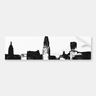 Black & White New York City Car Bumper Sticker