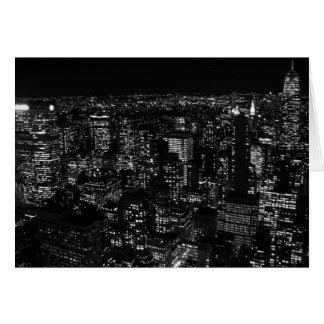 Black & White New York City Greeting Card