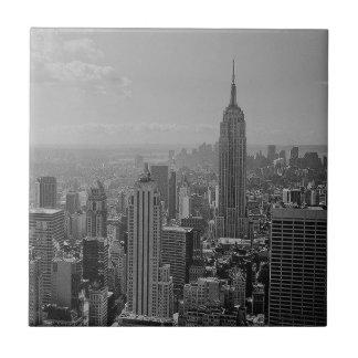 Black & White New York City Ceramic Tile