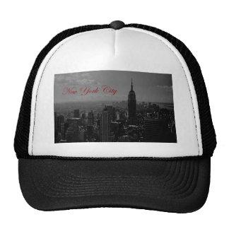 Black White New York City Hats
