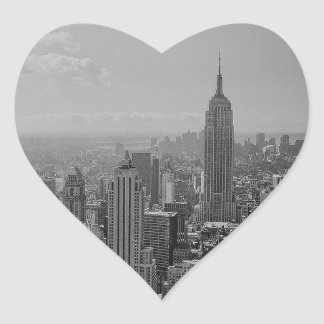 Black & White New York City Heart Sticker