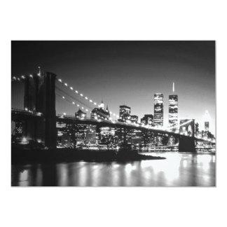Black & White New York City Invitation