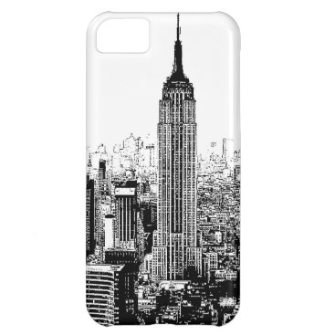 USA Themed Black & White New York City iPhone 5C Case