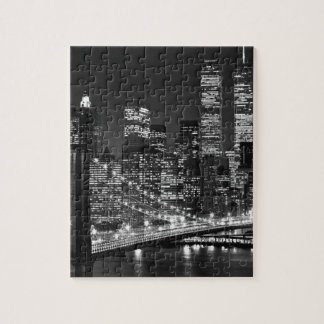 Black & White New York City Jigsaw Puzzle