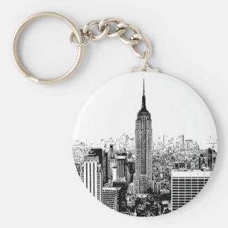 Black & White New York City Keychain