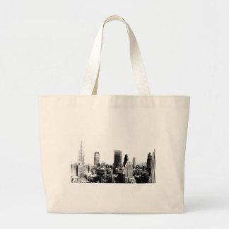 Black & White New York City Large Tote Bag